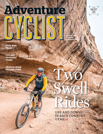 Adventure Cyclist August-September 2013 cover